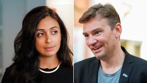 RIVALER: Hadia Tajik vs. Henrik Asheim blir det nye stjernekampen i norsk politikk. Foto: NTB