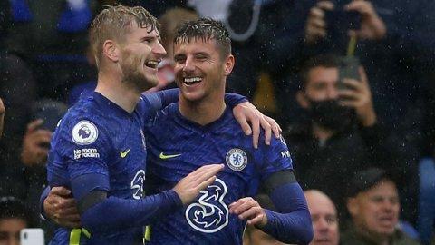 Både Timo Werner og Mason Mount forventes å starte for Chelsea i kveldens hjemmekamp mot Malmö i gruppespillet i Champions League.