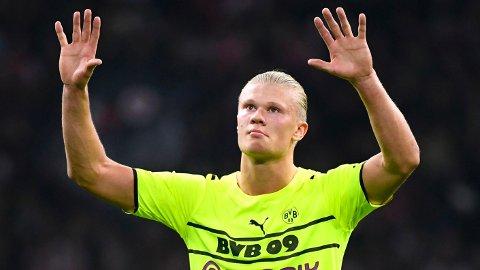 ETTERTRAKTET: Ettertraktede Erling Braut Haaland gikk målløs av banen i tirsdagens Champions League-kamp mot Ajax.