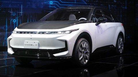 BÅNN GASS: Med blant annet SUV-modellen Model C, er Foxconn klare til å ta opp konkurransen på elbilmarked. Foto: Foxconn