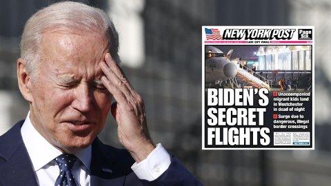 NY REKORD: Den ulovlige innvandringen til USA har eksplodert etter at Joe Biden tok over som president. Mer enn 1,3 millioner ulovlige innvandrere er pågrepet på den sørlige grensen i de ni månedene han har vært president, noe som er ny rekord.