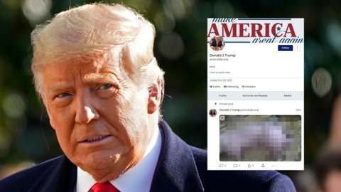 HACKET NYTT TRUMP-NETTVERK: Tidligere president Donald Trump vil lansere et nytt sosialt nettverk. Denne uken ble en betaversjon av nettverket hacket.