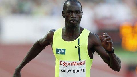 SKUFFET: Jaysuma Saidy Ndure ble nummer fem på 100 meteren på Bislett onsdag kveld.