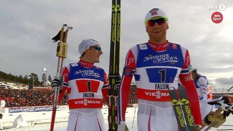 GULLGUTTER: Finn-Hågen Krogh og Petter Northug.