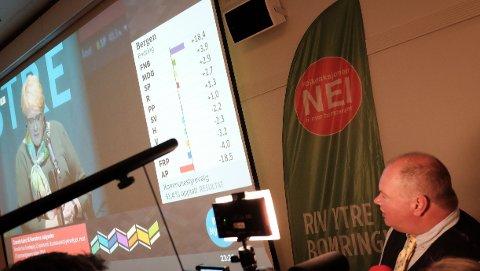VALGTHRILLER: Trym Aafløy og FNB fikk en spennende valgvake med vekslende tall for oppslutning og mandater.