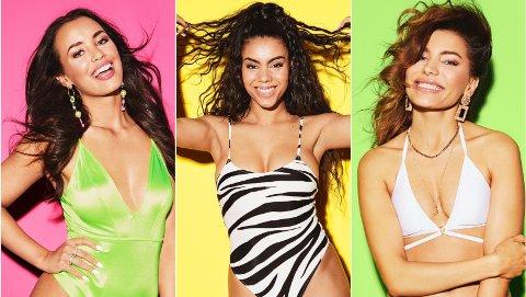ÅRETS DELTAKERE: Mie, Thammy og Nora er tre av deltakerne som skal kjempe om kjærligheten i neste sesong av Love Island.