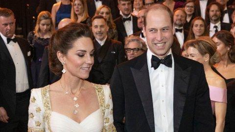 Kate og William måtte tåle å bli spøkt med under BAFTAs 2020.