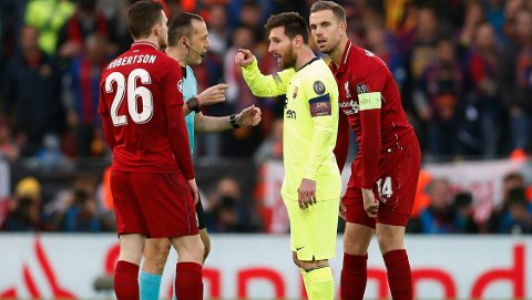 VIL UNNGÅ MESSI: Andy Robertson håper han slipper å møte Lionel Messi i Premier League.