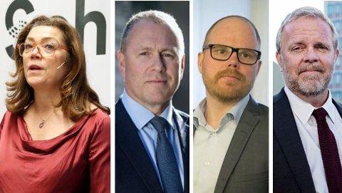 Schibsted-sjef Kristin Skogen Lund (t.v.) sa at VG hadde vært stygg med hennes kompis Nicolai Tangen, satte dermed VG-redaktør Gard Steiro i forlegenhet, og fikk kjeft av sin eier, advokat Jon Wessel-Aas.