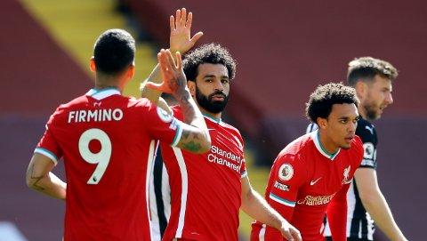 Mohamed Salah er den første Liverpool-spilleren i historien som har scoret over 20 mål i tre sesonger i Premier League.