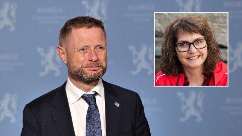 «DEN DÆR HELVETTES SKIT-REGJÆRINGA»:Helseminister Bent Høie og resten av regjeringen fikk det glatte lag i kronikken fra Agnes Bjørgve (innfelt).