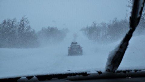 ADVARER: Dette er værforholdene som kan møte deg i fjellet i Sør-Norge det nærmeste døgnet. Illustrasjonsbilde.