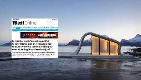Britiske The Telegraph omtaler det offentlige toalettet mellom Gildeskål og Meløy.
