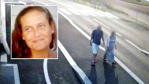SAMMEN MED TILTALTE: Her går Linn Madelen Bråthen (33) mot Brevik bro sammen med politimannen (40) som ble siktet for drap.