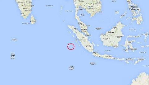 HER SKJEDDE DET: Jordskjelvet gikk i dette området som også sto sentralt under tsunamikatastrofen i 2004.