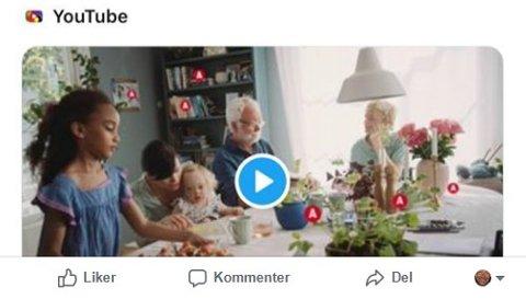 Bokkjeden Adlibris har nå fjernet den omtalte reklamevideoen med den flerkulturelle familien fra YouTube.