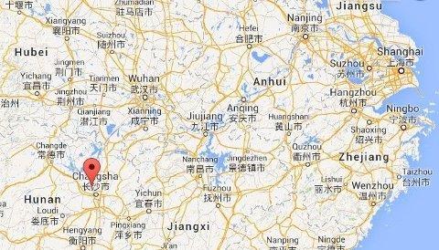 NYTT TERROANGREP: Men med kniver gikk til angrep på sivile i byen Changsha i Kina. Foto: Google Maps