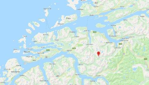 Fokhaugtinden sør for Molde og øst for Ålesund.