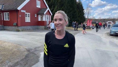 KAN SMILE: Karoline Bjerkeli Grøvdal kan smile bredt for sitt superløp.