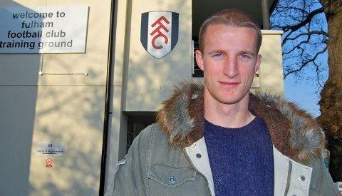 STOR BREDE: Brede Hangeland på Fulhams treningsfelt. Nordmannen hylles som en stor tilvekst og en av hovedgrunnene til klubbens suksess.