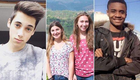 ETTERLYSES I SOSIALE MEDIER: Personene på bildene etterlyses fredag på Twitter på kontoer dedikert til å finne savnede etter angrepet i Nice.