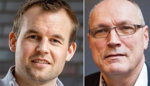 SJOKKERT: Knut Peterson i Norsk Cøliakiforening (t.h.) raser mot KrF for å ikke stoppe kuttene i gluten-støtten. Partileder i KrF, Kjell Ingolf Ropstad til venstre.