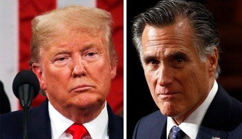 - På denne måten ønsker jeg å fortelle mine barn og mine barnebarn at jeg gjorde min plikt så godt som jeg kunne, i den tro at landet forventet det av meg, sa republikaneren Mitt Romney i Senatet.
