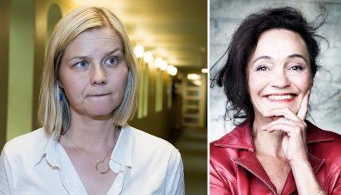 VIL FRATA HRS STATSSTØTTE: - Vi mener HRS bidrar på en veldig destruktiv måte i innvandringsdebatten, sier stortingsrepresentant Guri Melby (V), Rita Karlsen i HRS til høyre på bildet.