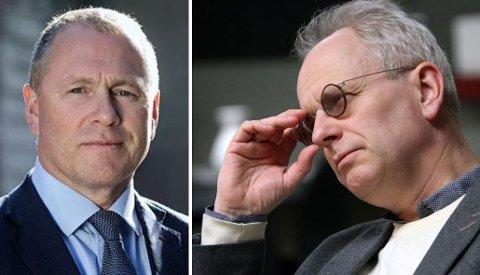 SKUSSMÅL: Påtroppende oljefond-sjef Nicolai Tangen (til venstre) er noe av det mest skikkelige og redelige vennen Henrik Syse kan tenke seg.