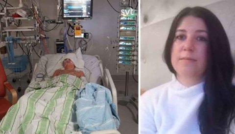 SYK: 11 år gamle Mio ble alvorlig syk av såkalt «long-covid». Moren Anne-Lie Karlsson forteller om en tøff reise. Foto: SVT/Privat