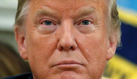 Presidenten selv var ikke nådig med «mislykkede New York Times» da han gikk på talerstolen etter å ha lest kronikken (arkivbilde).