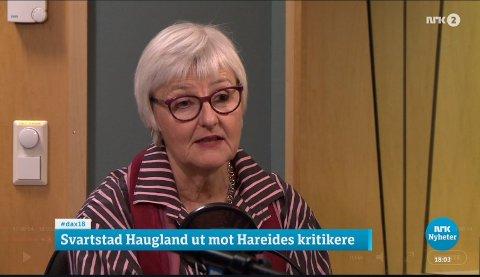 Fylkesmann i Oslo og Akershus, Valgerd Svarstad Haugland, klarte ikke å sitte stille lenger. Fredag kastet hun seg inn i KrF-debatten.