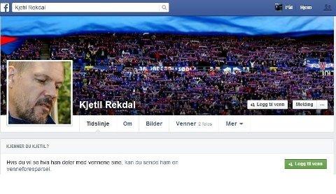 Slik ser Kjetil Rekdals Facebook-profil ut, med flere profil- og forsidebilder.