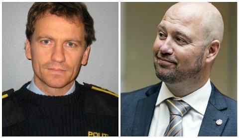 Politiinspektør Thomas Utne Pettersen i Haugesund får støtte av justisminister Anders Anundsen (Frp) etter sitt utspill om fremmedfrykt og kriminalitet.