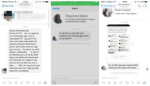 TRUSLER: 30-åringen har mottatt flere trusler og sinte meldinger etter at navnet hans ble lagt ut på diverse blogger, som en av Mannegruppa Ottars medlemmer. Han sier vitsen han delte var fra Radioresepsjonen, og at de som deler navn må tenke over hva de gjør.