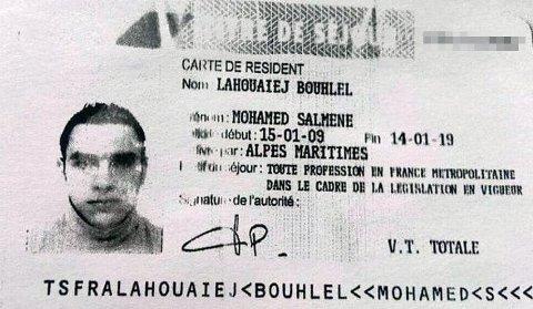 GJERNINGSMANNEN: Dette bildet vist på fransk TV skal være Mohamed Lahouaiej Bouhlel, som skal ha vært mannen som drepte 84 personer i Nice torsdag kveld.