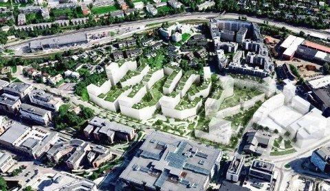 NYBYGG: OBOS foreslår å bygge totalt 98.000 kvadratmeter BTA.