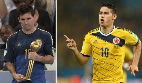 GULLBALLEN: Lionel Messi ble kåret til VMs beste spiller. Vi vill gitt Gullballen til han som også ble toppscorer, James Rodriguez fra Colombia.