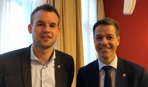 SIDE OM SIDE: Knut Arild Hareide og Kjell Ingolf Ropstad.