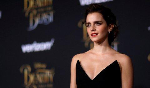 Emma Watson under premieren av Skjønnheten og Udyret i Los Angeles.