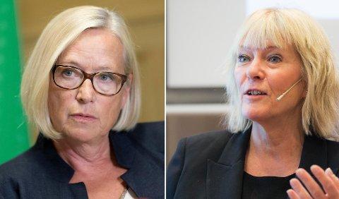 Kristin Clemet (til høyre) svarer Marit Arnstad.