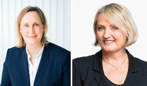 ADVARER: Advokatene Sicilie Tveøy (t.v.) og Randi Birgitte Bull ser bolig og eiendom ofte er midt i stridens kjerne ved samlivsbrudd.