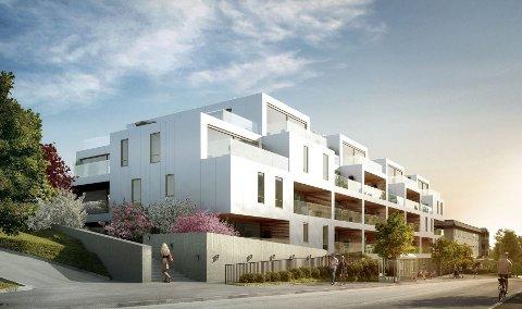 SLIK SKAL DET BLI: 33 arkitekttegnede leiligheter skal oppføres i Ekebergveien 226–228. Det er Solon Eiendom AS som er byggherre. A-lab har tegnet prosjektet.
