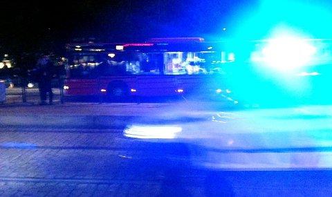 Politiet rykket ut med flere patruljer etter at en mann ble overfalt på Ris lørdag kveld.