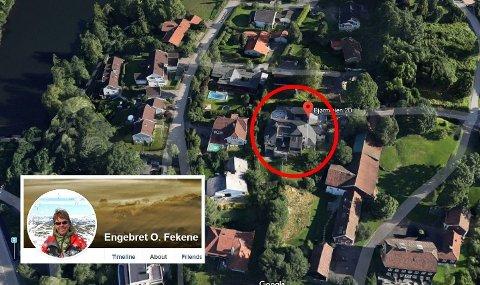 Investor Engebret O. Fekene (innfeldt) tror han kan få 22 millioner kroner mer enn han ga for villaen på Slemdal.