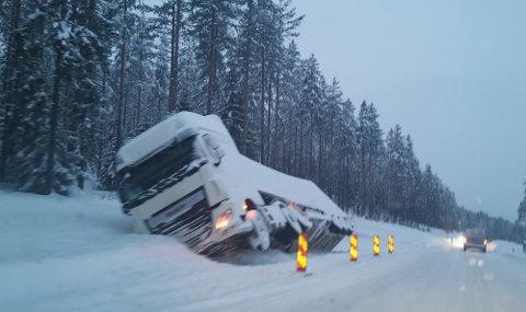 HETT TEMA: Utenlandske vognførere på norske vinterveier blir tema på Senterpartiets landsmøte.