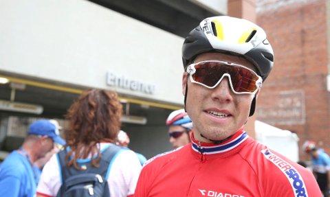 I MEDALJEPOSISJON: Edvald Boasson Hagen unnlot å prøve egne sjanser da han lå an til en topplasering helt mot slutte av søndagens VM-ritt i USA.
