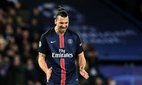 TOMMELEN NED?: Zlatan Ibrahimovic fortsetter kanskje karrieren i England, men det blir trolig ikke som en del av Manchester United under den sittende manageren.
