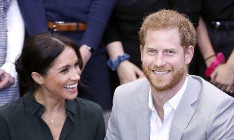 GRAVID: Hertuginne Meghan og prins Harry venter sitt første barn sammen.