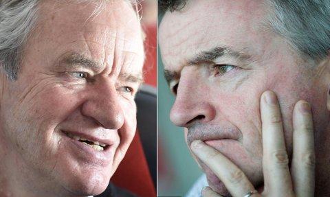 IKKE BESTEVENNER: Norwegian-sjef Bjørn Kjos og Ryanair-sjef Michael O'Leary.